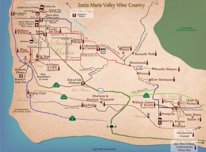New Santa Maria Valley Wine Country Map on paso robles wineries map, georgia wineries map, sutter creek wineries map, lompoc wine trail map, healdsburg wineries map, lake mendocino county wine map, nh wineries map, az wineries map, fresno wineries map, south coast winery map, indiana wineries map, leelanau peninsula wineries map, umpqua valley wineries map, california wineries map, santa rita hills wineries map, austin wineries map, denver wineries map, sonoma winery map, atlas peak wineries map, nebraska wineries map,