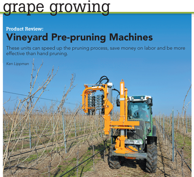 Product Review Vineyard Pre Pruning Machines