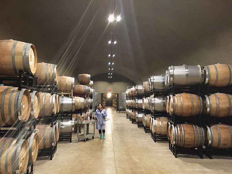 Cairdean barrel room