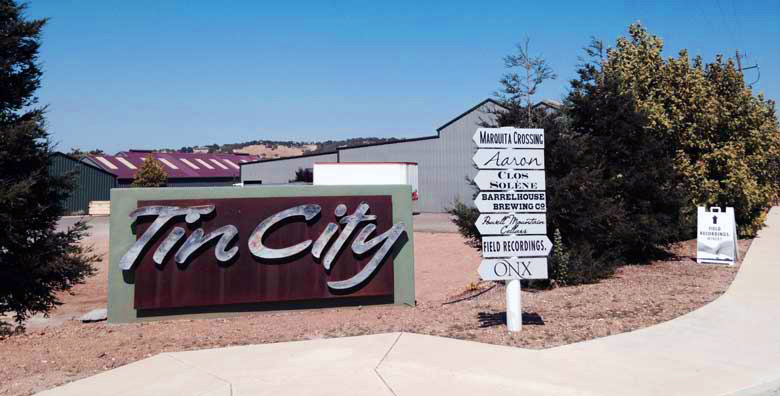 tin city sign