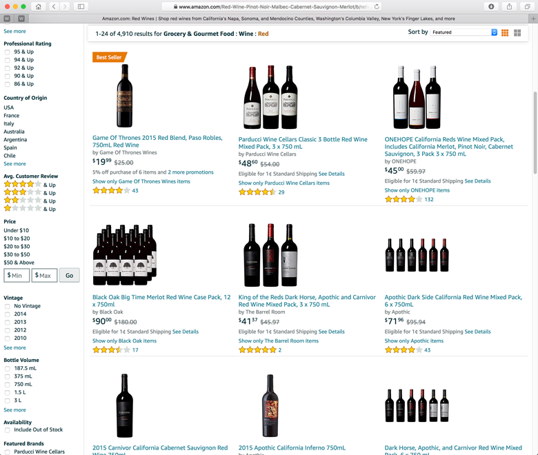 wine wineries direct to consumer sales amazon