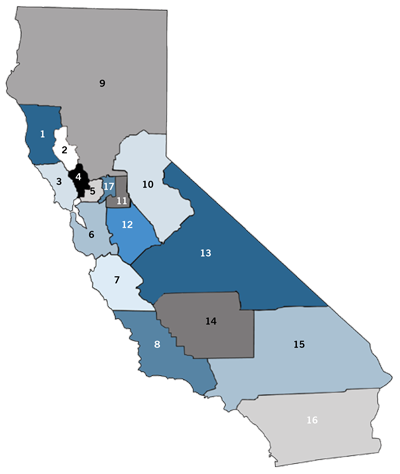 California Grape Crush Report District map