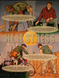 Heat Stress awareness poster
