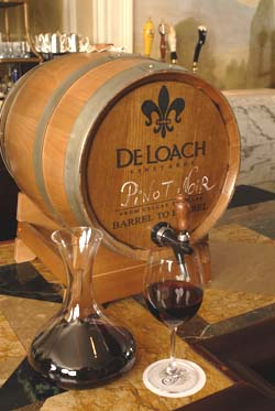 DeLoach barrel packaging