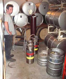 Oregon wine restaurant kegs