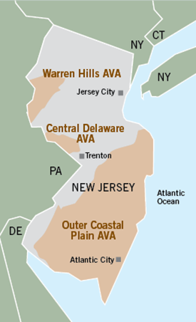 Outer Coastal Plain AVA map