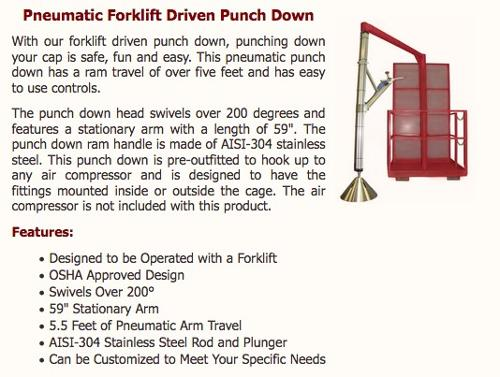 Forkliftable Pneumatic Punchdown dev + Compressor